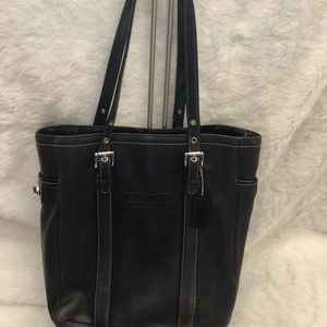 Coach black medium tote